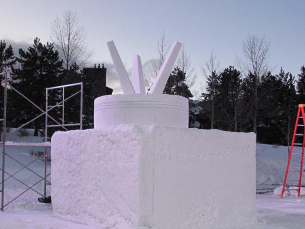 Schneeskulptur KEYMONT 2018