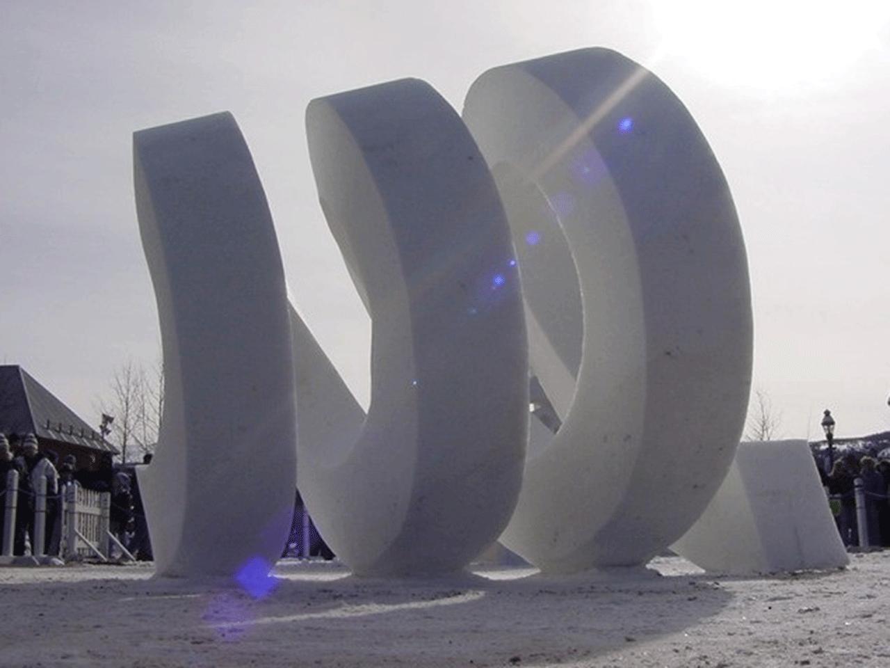 Schneeskulptur VITALITY 2002