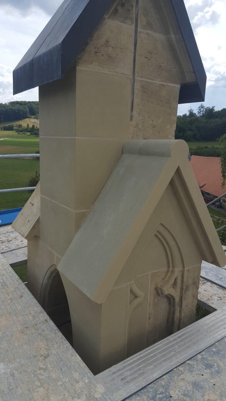 neu versetzte Werkstücke Kapelle Buntels