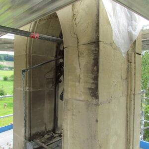 Schäden am Glockenturm